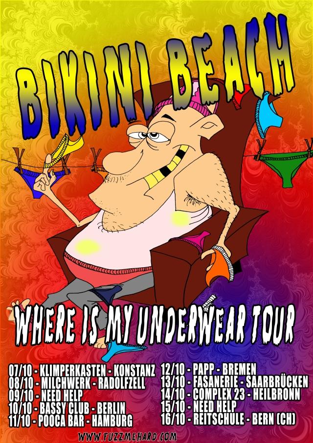 BikiniBeachwhereismyunderweartourposter